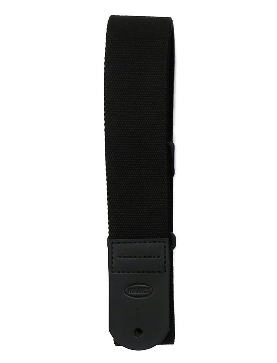 Black Canvas Handmade Guitar Strap