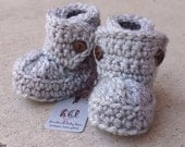 ON SALE Baby Booties, Baby Boots, Crochet Baby Booties