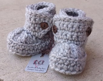CHRISTMAS IN JULY Sale! Baby Booties, Baby Boots, Crochet Baby Booties, Baby Ugg Booties