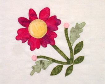 Appliqued Wildflower Quilt Block Baltimore Album