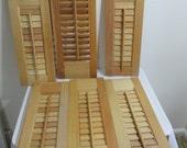 Wood Shutter Panel Unfinished No Hardware Choose One