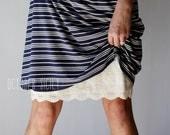 Modest Opaque Lace Dress Extender HALF SLIP  *Style 2* size S-2XL