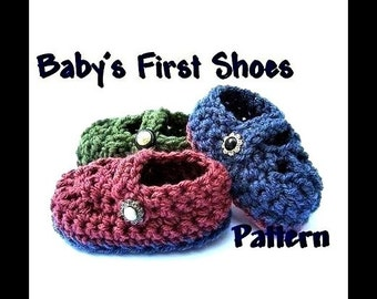 INSTANT DOWNLOAD Crochet Pattern PDF 67 Baby Booties - Baby's First Shoes