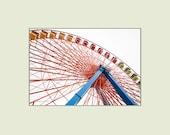 Giant Wheel Ferris Wheel Ride at Cedar Point Amusement Park 5x7 print with 8x10 mat