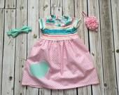 RTS- Girls Clueless hearts knit top dress