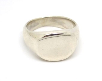Silver Pinky Signet Ring- with or without engraving