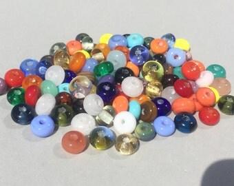 From the beadbox - 100  Spacer Beads  - Handmade Lampwork (1)