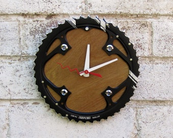 Recycled TruVativ Bicycle Chainring Wall Clock