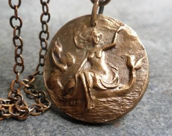 Mythology Jewelry Birth of Venus Pendant