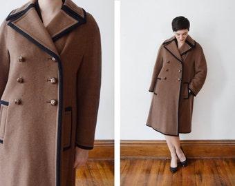 Saks Fifth Avenue 1960s Brown Wool Coat - M