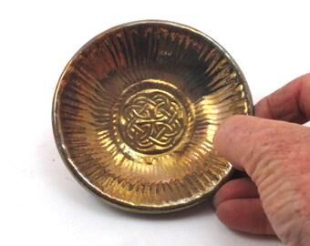 Lugh God Celtic Blessing Bowl RAKU Pottery