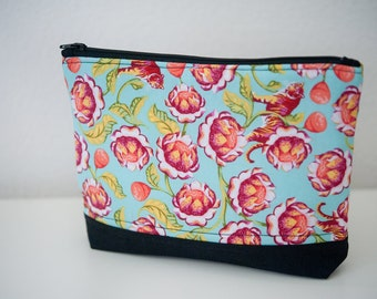 Colorful Flower zippered pouch