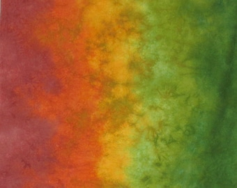 Hand Dyed Fabric - Sugar Maple -  Gradient