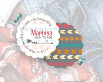 Custom Business Cards, Personalized Business Cards, Business Card Design, Casual Calling Cards,Mommy Card, Cards & Case // Marissa S-S29 UU1