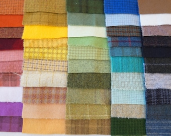 SALE Hand Dyed Felted Wool Scrap Bundle 1150 perfect for Rug Hooking, Applique, Quilting, and Sewing by Quilting Acres