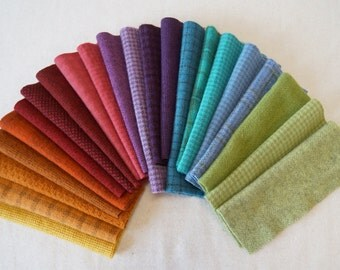 Hand Dyed Felted Wool Fabric in a Beautiful Collection of Colors a Perfect Rug Hooking Wool 3201B