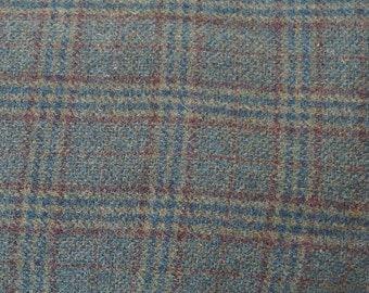 Green Plaid Wool Fabric Felted Wool Fabric- 100% Wool Perfect for Rug Hooking, Quilting, Wool Applique