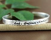 Ask Believe Receive Cuff Bracelet, Silver Cuff Bracelet, The Law of Attraction, Personalized Bracelets, Inspirational Bracelets, The Secret