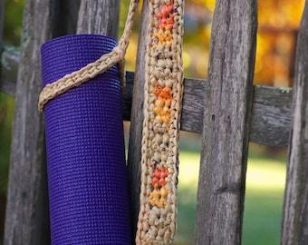 Yoga Mat Strap, Carrier (Fall Colors - tan)