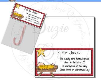 J is for Jesus Bag Topper - Digital Printable - Immediate Download