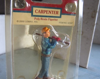 Lemax Village Collection-Carpenter. Poly Resin Figurine. Sealed in Package. #272