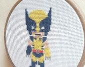 Handmade Wolverine X-men Cross Stitch
