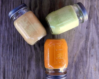 Autumn Scented Candles - Choose a Fall Scent - Color Mason Jar Candle
