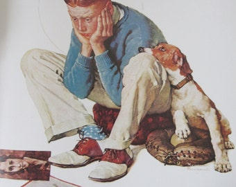 Starstruck/Under Sail, Norman Rockwell Magazine Cover Prints, 2-Sided Vintage Book Page, Unframed Color Plate, 1979