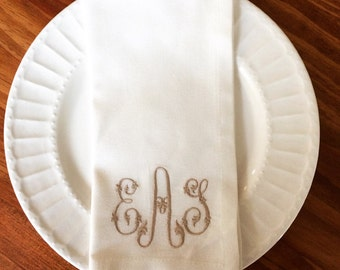 Monogrammed Cotton Napkin - Set of Four