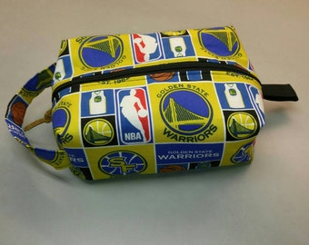 Golden State Warriors men's shave kit, toiletry boxy bag handmade