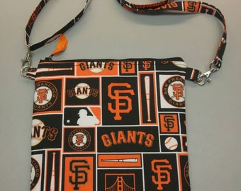 San Francisco Giants purse/ messenger bag with adjustable strap