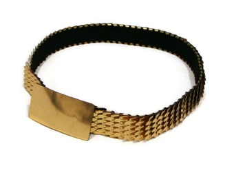 Vintage Gold Metal Stretch Belt Gold Belts For Women Vintage Elastic Belt Gold Waist Belt Metal Belts For Women Elasticated Belts For Women