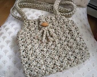 Vintage bag Purse Shoulder Bag Hand Made Macrame Purse
