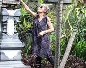 Wayan Sleeveless Tunic/Short Dress, Bali Batik, Rayon, Sizes XS- 2X