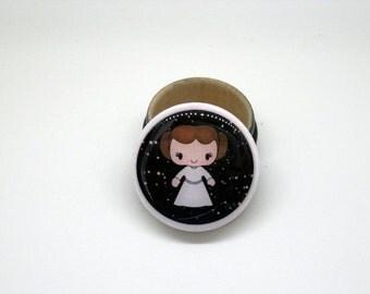 Princess Leia ring bearer box tooth fairy box jewelry box pill box