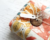Modern Square Pincushion Autumn Colors Pin Keep Scrappy Pin Cushion