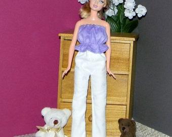 BSPJ-21) Barbie flannel pajamas