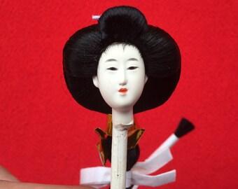 Japanese Doll Head - Hina Doll -  Woman - Hina Matsuri - Japanese Doll Festival - Girl Doll Head - Queen D10-2 Mini Size