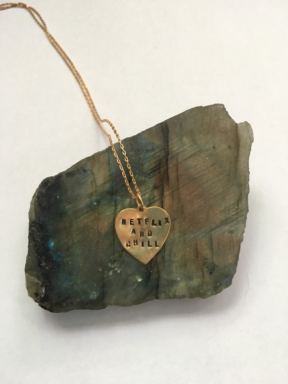 Netflix And Chill Engraved Necklace