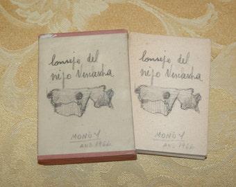 Libero Badii Consejo Viejo Vizcacha Jose Hernandez 1966 Handmade Loose Leaf Book