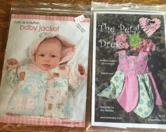 Two Fantastic Baby Toddler Sewing Patterns-Tulip Dress and Patchwork Jacket
