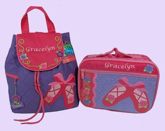 Child's Personalized Stephen Joseph BALLET SHOES-DANCE  Backpack and Lunchbox School Set-Monogramming Included