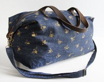 Weekender Bag - Gold Bees