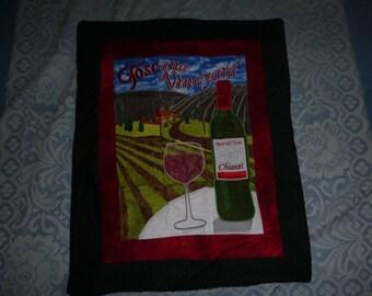 Fall decor wine bottle wall hanging