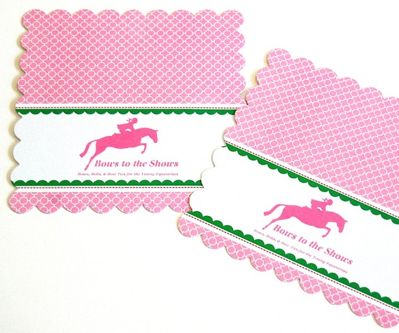 """100 4.5"""" Scalloped edge squares - custom design - wine bottle label, place card, bag or sack topper, display card - headband hair bow clip"""