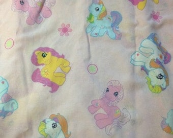 My Little Pony vintage twin flat bed sheet
