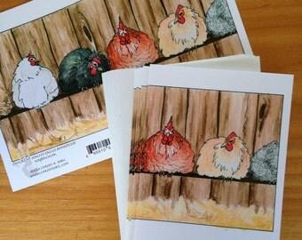 6 Chicken Cards