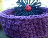 Nesting Bowls, Crochet bowls, Storage, Individual Bowl