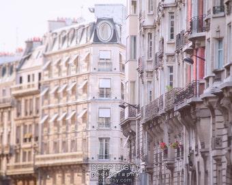 Paris Photography Building Architecture Parisian Apartments Paris Photo Decor Neutral Colors Pink Rose par205