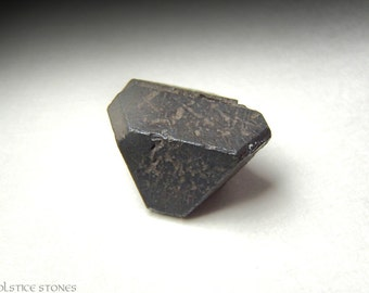 Super Rare Alabandite Crystal, Twin Terminated Piece // Root Chakra // Crystal Healing // Mineral Specimen